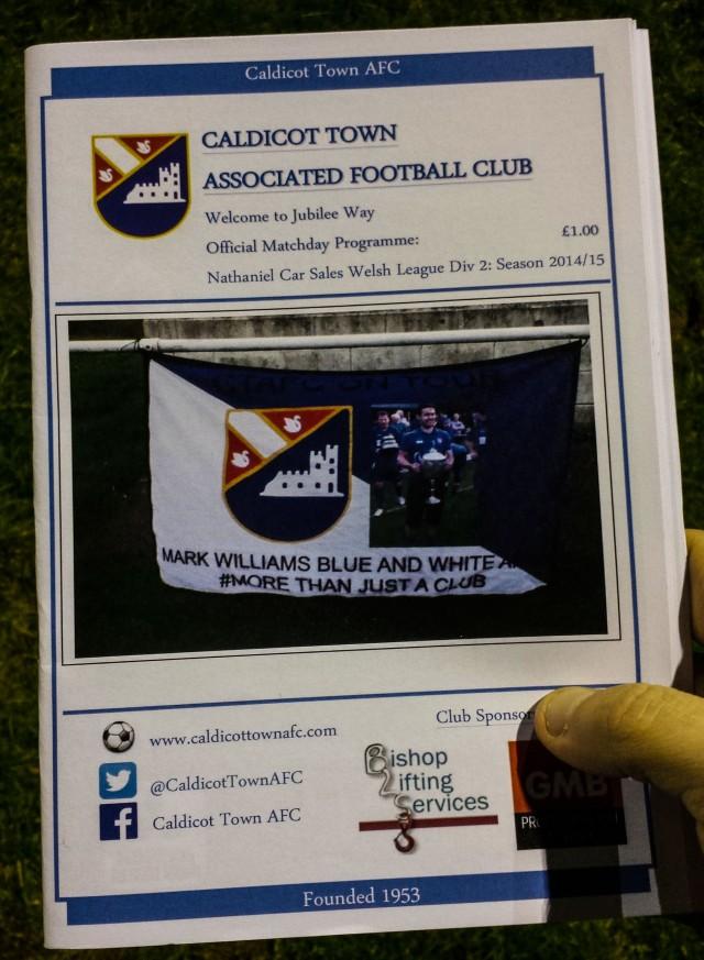 I love a good match day programme. Good effort Caldicot!